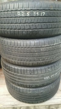 1 sets of used tires 225 55 17