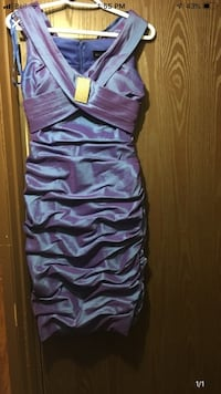 Never been worn short blue dress  Calgary, T1Y 3L9