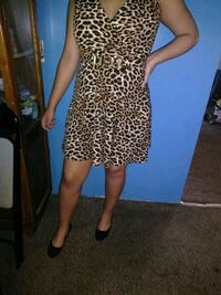 Leopard print cocktail dress