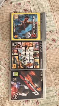 3 assorted PS3 games