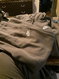 Grey hooded sweater with matching sweatpants size large in women's Woonsocket, 02895
