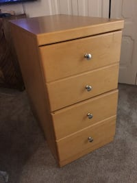 Two Drawer Wood File Cabinet ALEXANDRIA