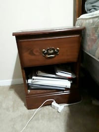 brown wooden single-drawer nightstand London, Ontario, N6J 3T9