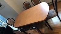Brown wooden dining table set Laval, H7X 2W9