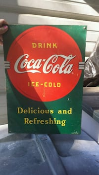 Original coca cola metal advertising piece Byram, 39272