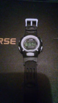 Black Sport Watch.adjustable.works perfect.