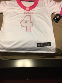 white and pink Nike Dallas Cowboys 4 jersey