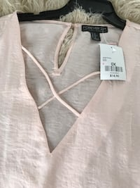 white Forever 21 blouse Amityville, 11701