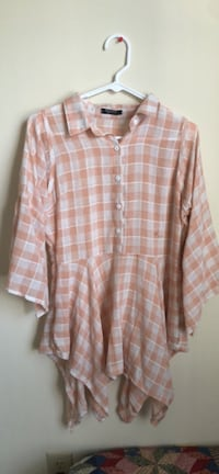 white and brown plaid button-up shirt Lexington, 40503