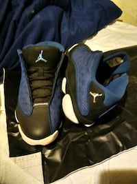 Jordan 13 blue braves worn one time. Great condition