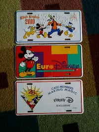 Disney license plates-sealed