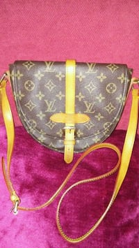 brown Louis Vuitton leather sling bag