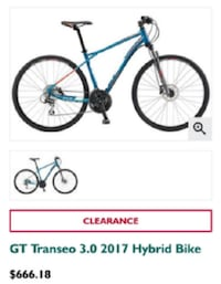 TRANSEO 2017 3.0 CITY CROSS MEN'S BICYCLE Surrey, V3W 0M4
