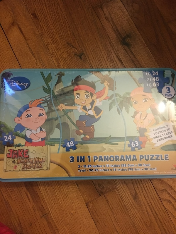 3 in 1 Panorama Puzzle book