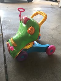 Ride on and walker trainer for toddler