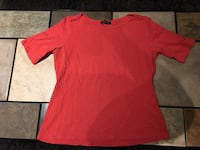 Dalia Women's Red Short Sleeved Top For Sale