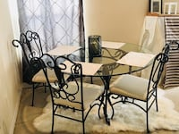 Round glass top table dining set (Bronze) Tampa, 33635