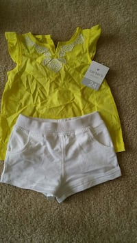 New with tags Carters 24m yellow white short set  Gaithersburg, 20878