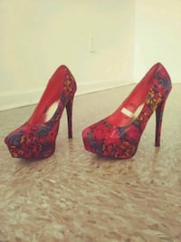pair of red-and-black platform stilettos Shreveport, 71106