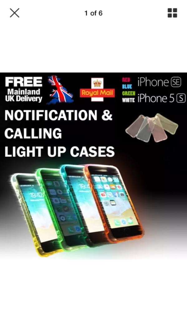 iPhone SE & 5S light up cases on calling and notification