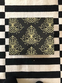 black and white floral area rug Bend, 97703