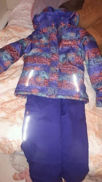 blue and red floral long-sleeved dress 1308 km