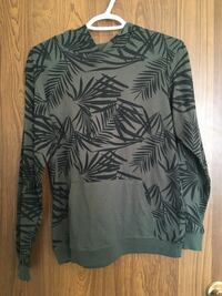 black and gray leafed print sweater Red Deer, T4P 1W3