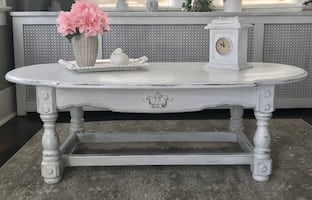 COFFEE TABLE FARMHOUSE WHITE SHABBY