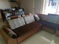 brown and white sectional couch Bengaluru, 560068