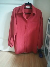 red button-up long-sleeved shirt Toronto, M2N