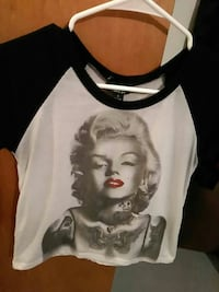 Marilyn Monroe printed scoop-neck raglan Amarillo, 79106