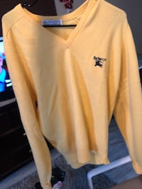 Vintage Burberry Authentic Lambswool Wool Cardigan V Neck Sweater Yellow  San Diego, 92116