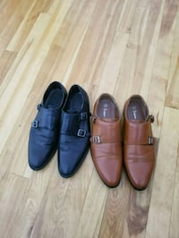 two pairs of brown and black leather dress shoes Laval, H7E