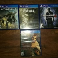 PS4 games !!!ALL USED ONCE!! Baltimore, 21209