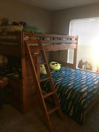 brown wooden bunk bed frame Norcross, 30093