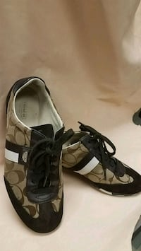 pair of brown Coach sneakers Picayune, 39466