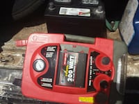 red and black Craftsman power tool