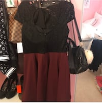 Black and Burgundy Dress  Lorton