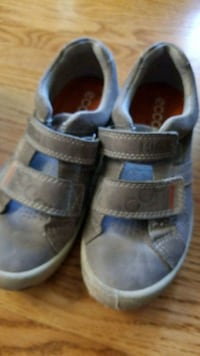 pair of gray-and-blue velcro shoes Calgary, T3A 6A8