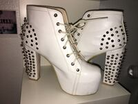 White studded heels Patterson, 95363