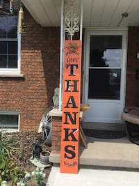Handcrafted 6 ft tall signs. Made to order, 24 hrs. Delivery
