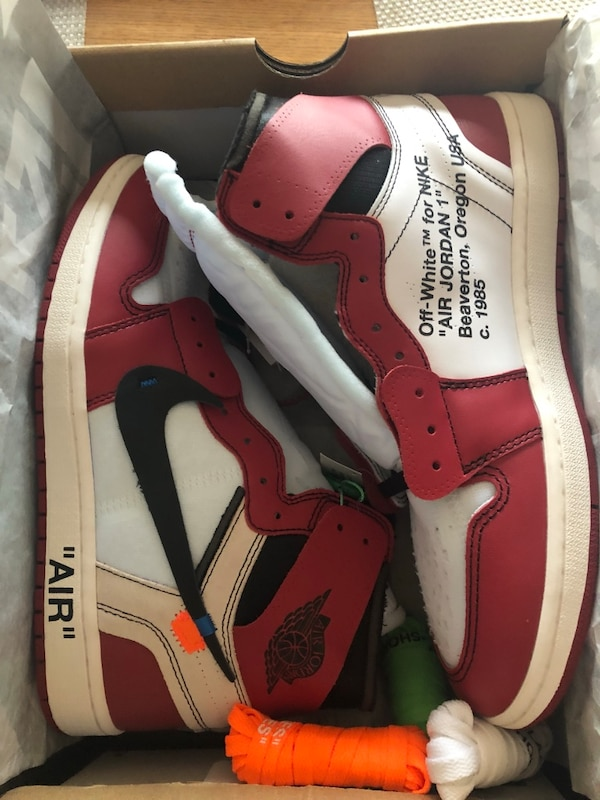 the latest 15a7f 5b39d Off white air Jordan 1 Chicago Edition 1:1 replicas with box and stockX  Authenticity