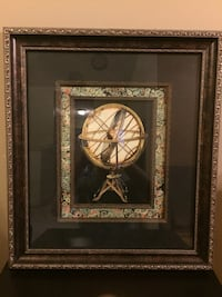 2 Globe with Marble Art Frames.