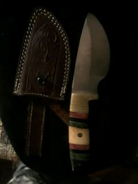 Pakistan hinting knife w leather etched sheith Mechanicsburg, 17055