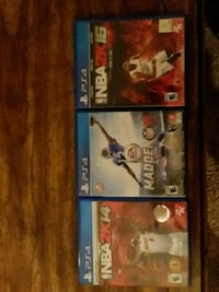 Ps4 games.  NBA 2K14, NBA 2K16, Madden 16.
