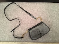 Tory Burch black patent leather crossbody/clutch