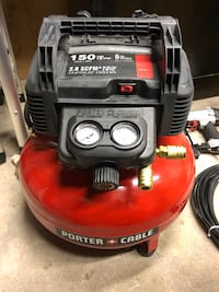 Porter Cable 22.7 L 150 PSI Portable Electric Air Compressor and 18-Gauge Brad Nailer Combo Kit (1-Tool) Vaughan, L4L 3L6