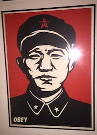 Signed Shepard Fairey Chinese Soldier print.