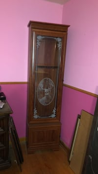 Brown wooden framed glass display cabinet Sykesville, 21784