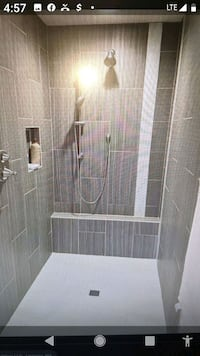 Custom showers and flooring .